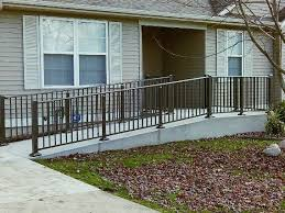 Handrailing Aluminum Hand Railing Adds Style To Handicap Access Ramp
