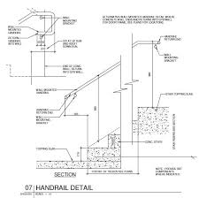What Is Standard Handrail Height Handrail Detail Cad Files Dwg Files Plans And Details