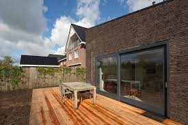 wood deck backyard terrace family house idea6 concrete and brick