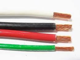 40 u0027 ea thhn thwn 6 awg gauge black white red copper wire 40 10
