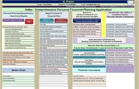 Excel Financial Plan Template Xlfinplan Excel Based Personal Financial Planning And Wealth