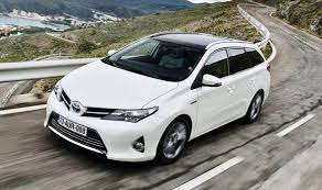 family car toyota toyota s auris sports car is stuck in the middle of the