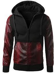amazon com wolfbike cycling jacket jersey vest wind o deals urbancrews mens hipster hip hop alligator pu trim hooded