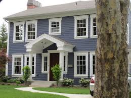 blue house white trim front door modern exterior design ideas blue siding wood doors and white trim