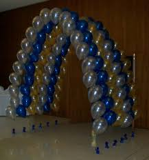 diy balloon arch using weights and thread party ideas