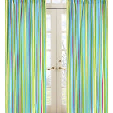 Blue And Lime Green Curtains Laural Home Creatures 84 Inch Sheer Curtain Panel Free