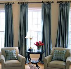 Patterned Armchair Astonishing Living Room Curtain Ideas Black Rail Glow Blue