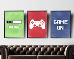 Gaming Room Decor Decor Etsy