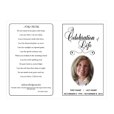 templates for funeral program celebration of funeral phlets