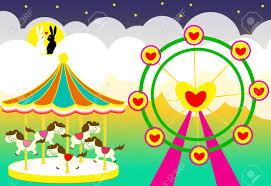 wedding backdrop vector free amusement park wedding backdrop with carousel and ferris wheel