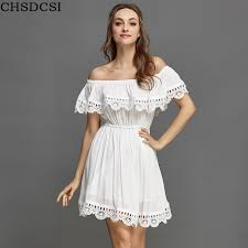 white dress chsdcsi fashion women vintage sweet lace white dress
