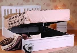 coliseum wooden ottoman storage bed