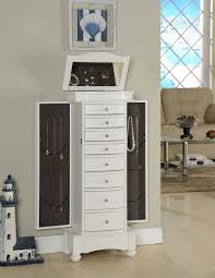Jewelry Armoire Antique White Furniture Mesmerizing White Jewelry Armoire With Elegant Shaped