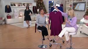 isaac mizrahi live textured knit fluted hem dress on qvc youtube