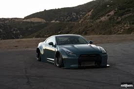 nissan gtr black edition body kit air lifted gt r with liberty walk body kit and rotiform rims