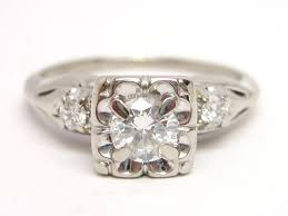 white gold engagement ring with yellow gold wedding band antique white gold diamond rings white gold square diamond