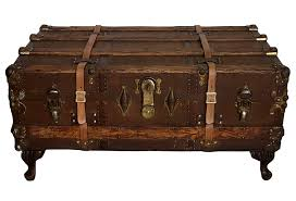 steamer trunk side table antique steamer trunk coffee table omero home