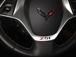 2014 corvette stingray wheels c7 corvette stingray 2014 z51 steering wheel decal single