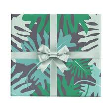 tropical wrapping paper big tropical leaves gift wrap by revel co revel co