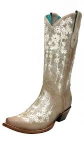 womens corral boots size 11 s corral bone floral embroidered sawrovski boots c3178