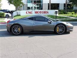 silver 458 italia sell used 2011 458 italia coupe grigio silver 3 200