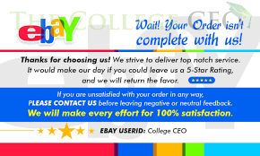 thank you card size ebay seller thank you feedback cards template free
