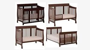Cribs That Convert Into Full Size Beds by Stork Craft Tuscany 4 In 1 Convertible Crib Espresso Youtube