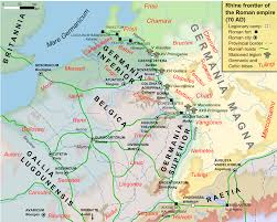 Roman World Map by Map Of The Rhine Frontier Of The Roman Empire 70ad Illustration