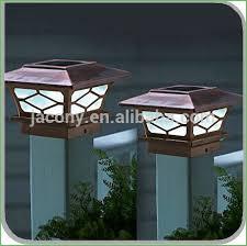 Solar Powered Fence Lights - lighting solar fence post lights 4x4 solar led post lights solar