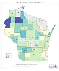 State Of Wisconsin Map by Free And Reduced Lunch Eligibility At Wisconsin Private Schools