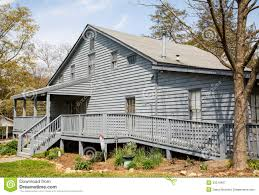 Grey House by Grey Siding House With Wheelchair Ramp Royalty Free Stock