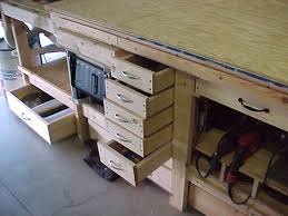 impressing workbench storage of features home gallery idea Ideas For Workbench With Drawers Design