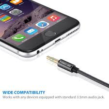 poweradd 6 6 feet 2 meters long aux cord nylon braided aux cable
