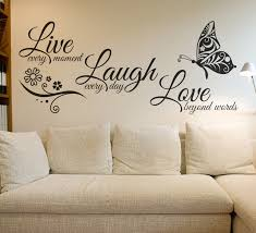 modern wall decals for living room live laugh love butterfly flower wall art sticker modern wall decals