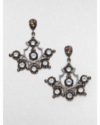 Gunmetal Chandelier Earrings Shop Women U0027s M C L Matthew Campbell Laurenza Earrings From 66 Lyst