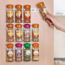 Kitchen Cabinet Door Spice Rack 3pcs Set Spice Rack Storage Wall Rack 12 Cabinet Door Spice