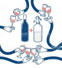 clinking glasses emoji flat vector illustration of drinking wine and soda cheers clinking