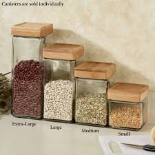 Green Kitchen Canister Set Macallister Stackable Glass Kitchen Canisters