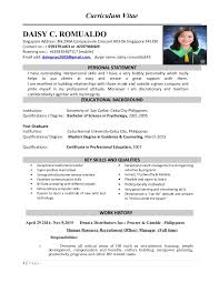 Resume Sample For Hr Manager by Personal Statement For University Human Resources