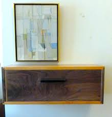 Cherry Nightstand With Drawers Cherry And Walnut Floating Wall Shelf Night Stand With Drawer