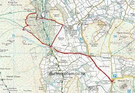 Barrows Map Dartmoor Cam Walks
