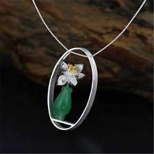 whispers jewelry lotus real 925 sterling silver chalcedony handmade
