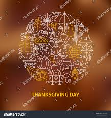 thin line thanksgiving day icons stock vector 317020700
