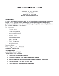 Sale Associate Resume Resume Samples For Retail Sales Associate Quality Free Download
