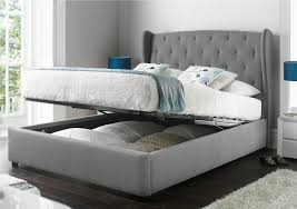 King Bed Frame Upholstered Gray Upholstered King Bed Frame Vine Dine King Bed Ideas