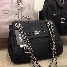 Tas Guess jual tas guess hitam tali rantai original mamili boutique