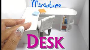 Diy Dollhouse Furniture Diy Modern Desk Office Dollhouse Furniture Miniature Furniture L