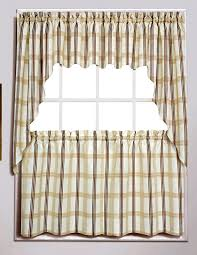 Plaid Kitchen Curtains Valances by Chadwick Curtains Are A Sophisticated Swag Valance U0026 Tier Program
