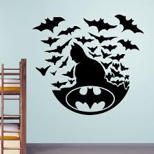 batman home decor batman with bats wall stickers decals easy home decor batman doire