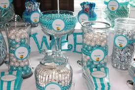 candy bar for baby shower blue and white baby shower candy bar ideas baby shower ideas gallery